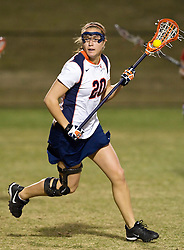 Virginia M Ainsley Baker (20) in action against UMD.  The #3 ranked Maryland Terrapins defeated the #2 ranked Virginia Cavaliers in NCAA Women's Lacrosse 17-11 at Klockner Stadium on the Grounds of the University of Virginia in Charlottesville, VA on March 6, 2009.