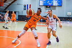 21-11-2018 NED: Netherlands - Bulgaria, Amsterdam<br /> Qualify FIBA Women's EuroBasket 2019 at Sporthallen Zuid Amsterdam / Group Phase Group F, Final Score 89-68 / Janis Ndiba Boonstra #0 of Netherlands, /