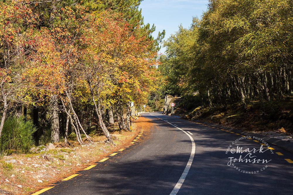 Highway N338 through the Parque Natural da Serra da Estrela, Portugal