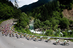 Peloton near Luce during 3rd Stage Trzic - Golte (170,6 km) at 18th Tour de Slovenie 2011, on June 17, 2011, in Slovenia. (Photo by Vid Ponikvar / Sportida)