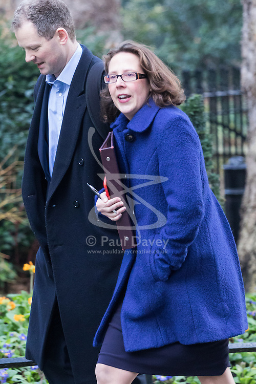 Downing Street, London, January 17th 2017. Lord Privy Seal and Leader of the House of Lords Baroness Natalie Evans  arrives at the weekly cabinet meeting at 10 Downing Street.