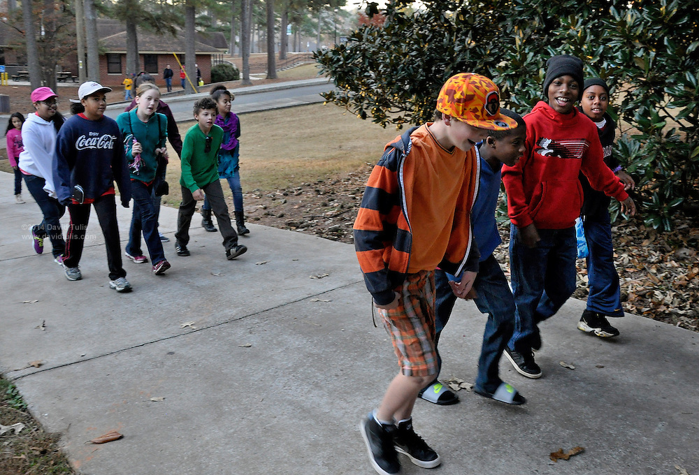 Sagamore Hills Elementary School 5th Graders view the sites at Rock Eagle on their overnight trip Monday, Nov. 18, 2013, and Tuesday, Nov. 19, 2013, in Eatonton, Ga. (David Tulis/dtulis@gmail.com)