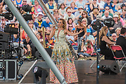 Katherin sings on the Waterfront stage in front of a large crowd - The 2017 Latitude Festival, Henham Park. Suffolk 16 July 2017