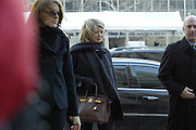 Martha Stewart, center, and her daughter Alexis, left, arrives at a federal courthouse in New York for her security fraud trial, Thursday, Jan. 29, 2004.  Douglas Faneuil, a former brokerage assistant, the linchpin of the government's case against Martha Stewart, is expected to take the stand today.  (AP Photo/Diane Bondareff)