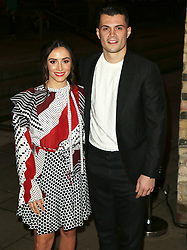 February 18, 2019 - London, United Kingdom - Leonita Lekaj and Granit Xhaka attend the Fabulous Fund Fair as part of London Fashion Week event. (Credit Image: © Brett Cove/SOPA Images via ZUMA Wire)
