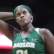 STORRS, CONNECTICUT- NOVEMBER 17: Kalani Brown #21 of the Baylor Bears taking a free throw during the UConn Huskies Vs Baylor Bears NCAA Women's Basketball game at Gampel Pavilion, on November 17th, 2016 in Storrs, Connecticut. (Photo by Tim Clayton/Corbis via Getty Images)