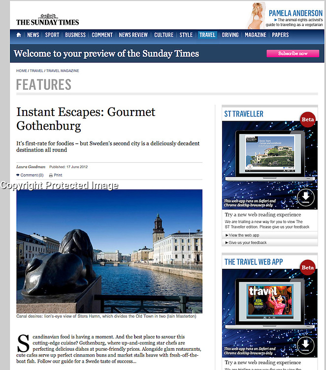 The Sunday Times; Gothenburg, Sweden