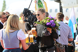 15.07.2014, Flughafen, München, GER, FIFA WM, Empfang der Weltmeister in Deutschland, Finale, im Bild Sarah Brandner, Freundin von Bastian Schweinsteiger #7 (Deutschland) // during Celebration of Team Germany for Champion of the FIFA Worldcup Brazil 2014 at the Flughafen in München, Germany on 2014/07/15. EXPA Pictures © 2014, PhotoCredit: EXPA/ Eibner-Pressefoto/ Kolbert<br /> <br /> *****ATTENTION - OUT of GER*****