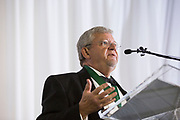 David Palmer gives a speech after receiving the Honorary Alumnus award at the Alumni Awards Gala on October 6, 2017.