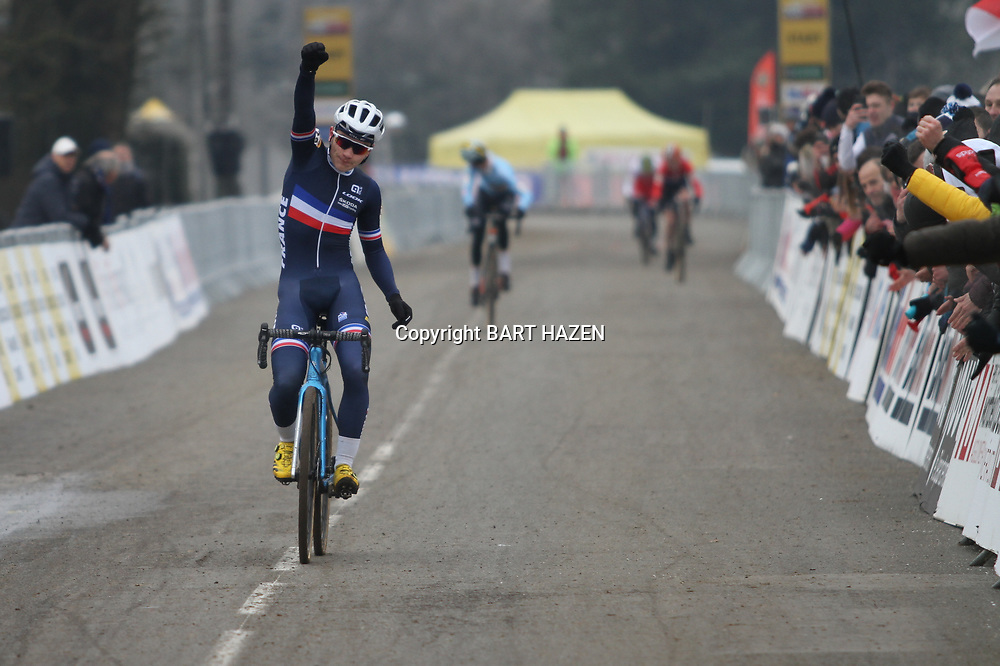 19-01-2020: Wielrennen: Wereldbeker Veldrijden: Nommay<br />Thibau Nys wins Worldcup Cyclocross race junior men at Nommay (France) . 2nd Remi Lelandais (France) and 3th Emile Verstenghe