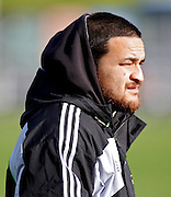 The New Zealand All blacks training session at Yarrow Stadium, New Plymouth, Auckland. Monday 7th June 2010. Piri Weepu helping during a training session with local U18 and U20 players.Photo: Mike Scott/PHOTOSPORT