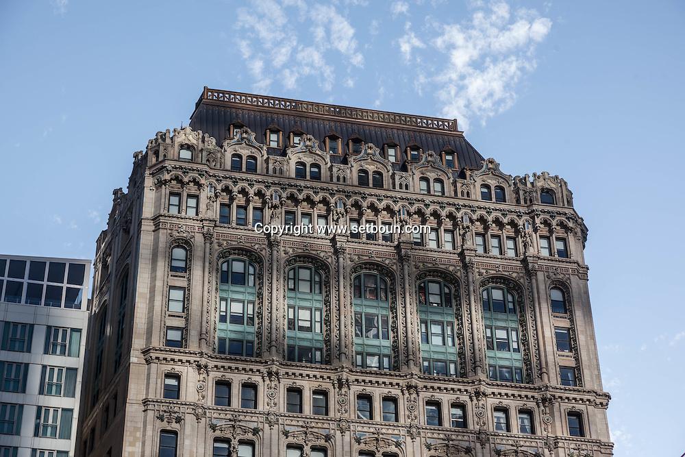 New York , Lower Manhattan, Architecture and old buildings, / architecture dans le quartier sud  de Manhattan