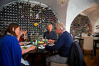 Vilnius, Lithuania- June 5, 2015: Patrons chatting over lunch at Bistro 18, a stylish restaurant run by an Irish-Lithuanian team that also features a broad wine selection for those just looking to sit down for a glass. CREDIT: Chris Carmichael for The New York Times