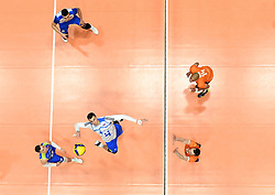 02-01-2020 SLO: Slovenia - Netherlands, Maribor<br /> Jan Kozamernik of Slovenia, Nimir Abdelaziz #14 of Netherlands, Tim Smit #12 of Netherlands during friendly volleyball match between National Men teams of Slovenia and Netherlands