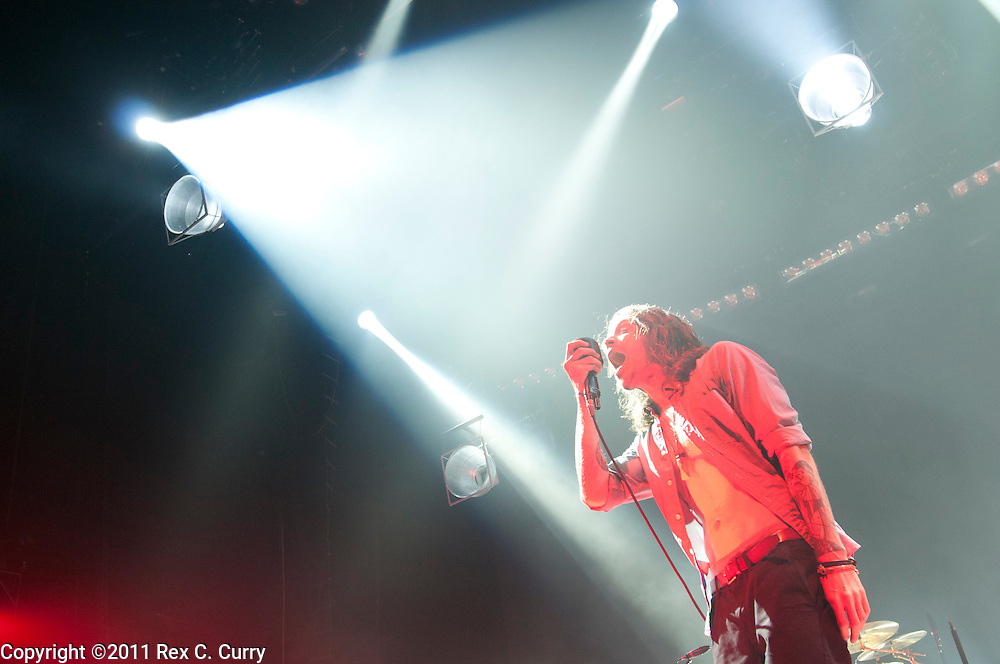 Brandon Boyd, lead vocalist of Incubus, performs in Dallas Sep. 29, 2011
