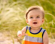 Lucas enjoying his time on the beach,