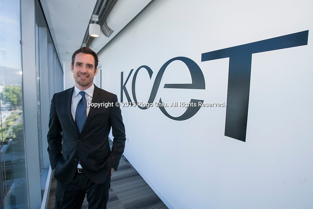 New CEO and President of KCET Michael Riley. <br /> (Photo by Ringo Chiu/PHOTOFORMULA.com)