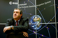 Giuseppe Viriglio, Director of the EU and Industrial Programmes, which includes the Galileo European Satellite Navigation System, at the Paris headquarters of the European Space Agency.<br /> Paris, France. 17/01/2006