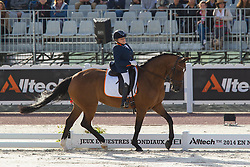 Demi Vermeulen, (NED), Vaness - Freestyle Grade II Para Dressage - Alltech FEI World Equestrian Games™ 2014 - Normandy, France.<br /> © Hippo Foto Team - Leanjo de Koster<br /> 25/06/14