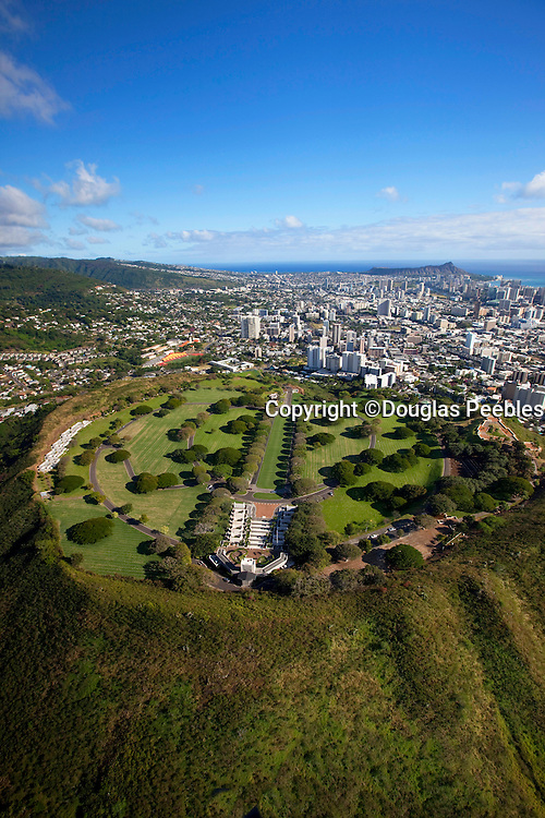 Punchbowl, National Memorial Cemetery of the Pacific, Honolulu, Oahu, Hawaii.
