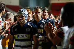 Bristol Rugby Number 8 Rayn Smid and his teammates look dejected after losing the match - Mandatory byline: Rogan Thomson/JMP - 06/11/2015 - RUGBY UNION - Ashton Gate Stadium - Bristol, England - Bristol Rugby v Doncaster Knights - Greene King IPA Championship.