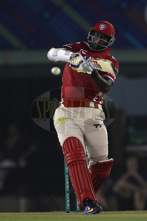 Thisara PERERA of the Kings XI Punjab  during match 2 of the Oppo Champions League Twenty20 between the Kings XI Punjab and the Hobart Hurricanes held at the Punjab Cricket Association Stadium, Mohali, India on the 18th September 2014<br /> <br /> Photo by:  Ron Gaunt / Sportzpics/ CLT20<br /> <br /> <br /> Image use is subject to the terms and conditions as laid out by the BCCI/ CLT20.  The terms and conditions can be downloaded here:<br /> <br /> http://sportzpics.photoshelter.com/gallery/CLT20-Image-Terms-and-Conditions-2014/G0000IfNJn535VPU/C0000QhhKadWcjYs
