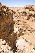 Israel, Judean Desert, a flash flood in Wadi Tzeelim