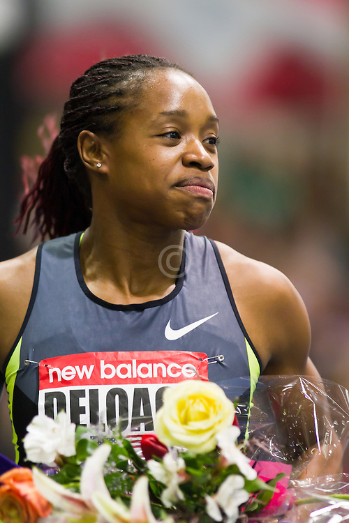 New Balance Indoor Grand Prix track meet: Janay Deloach victory lap wins Women's 60 meter hurdles