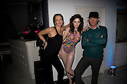 SAFFRON ALDRIDGE; RACHEL HAYTON; STING. Exhibition opening ' Alan Aldridge- The Man With Kaleidoscope Eyes' hosted by his daughter Saffron Aldridge. Design Museum. Shad Thames. London  SE1. *** Local Caption *** -DO NOT ARCHIVE -Copyright Photograph by Dafydd Jones. 248 Clapham Rd. London SW9 0PZ. Tel 0207 820 0771. www.dafjones.com