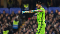 Football - 2019 / 2020 EFL Carabao (League) Cup - Fourth Round: Chelsea vs. Manchester United<br /> <br /> Sergio Romero (Manchester United) celebrates after his team take the lead at Stamford Bridge <br /> <br /> COLORSPORT/DANIEL BEARHAM