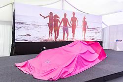 17.02.2020, BWT Headquarter, Mondsee, AUT, FIA, Formel 1, Racing Point Auto Präsentation, im Bild Racing Point Formel-1-Auto RP20 // during the FIA formula 1 car presentation of Racing Point at the BWT Headquarter in Mondsee, Austria on 2020/02/17. EXPA Pictures © 2020, PhotoCredit: EXPA/ Johann Groder