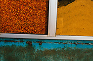 Chilis and tumeric spices at a local market, Colombo, Sri Lanka, Asia