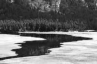 The ice recedes on Tagish Lake, Yukon