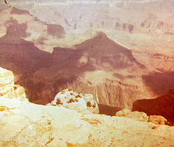 1981 Grand Canyon<br />  Photos taken by George Look.  Image started as a color slide.