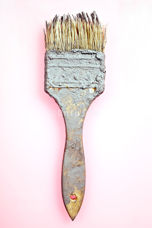 paintbrush with dried up paint