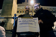 Roma 13 Ottobre 2009.Manifestazione contro la bocciatura della legge sull'omofobia,indetta dalla comunità omosessuale e non,davanti al Palazzo di Montecitorio..Demonstration against the rejection of the Law on homophobia, issued by the homosexual community and not in front of the Palace of Deputies.The banner reads:We make them the names of parliamentarians homosexuals?