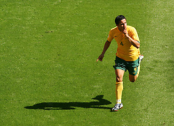FIFA World Cup 2006 Tim Cahill of Australia celebrates after scoring the second goal