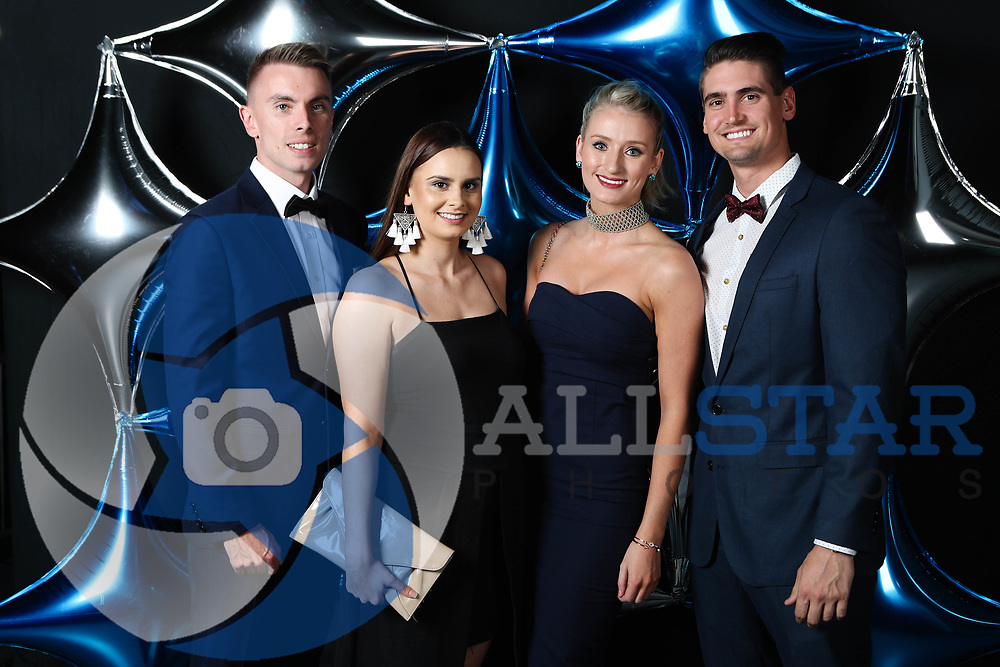 Adelaide 36ers and Adelaide Lightning MVP Dinner at the Titanium Security Arena. Aaron Hickmann, Maxine Ringrow, Mareli Visser and Josh Harris.