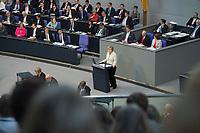 27 JUN 2013, BERLIN/GERMANY:<br /> Angela Merkel, CDU, Bundeskanzlerin, Regierungserklaeung der Bundeskanzlerin zum EU-Gipfel und Europaeischen Rat, Plenum, Deutscher Bundestag<br /> IMAGE: 20130627-01-010<br /> KEYWORDS: debatte, Sitzung