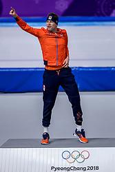 11-02-2018 KOR: Olympic Games day 2, Pyeongchang<br /> 5000 meter schaatsen mannen / Sven Kramer pakt het goud op de 5000 meter