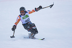 Kampschreur Jeroen of Nederlands during Slalom race at 2019 World Para Alpine Skiing Championship, on January 23, 2019 in Kranjska Gora, Slovenia. Photo by Matic Ritonja / Sportida