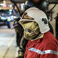 Pits garage at night, Le Mans 24H 2015
