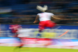 Football: Germany, 1. Bundesliga<br /> Fussballer, Illustration, Ballsport, Ballspiel, Zweikampf, Aktion, action, speed, header, Kopfball,