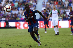 September 30, 2018 - Valencia, Spain - EMMANUELE BOATENG   of Levante UD during spanish La Liga match between Levante UD vs  Deportivo Alaves at Ciutat de Valencia  Stadium on September 30, 2018. (Credit Image: © Jose Miguel Fernandez/NurPhoto/ZUMA Press)