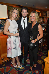 Left to right, TV Presenters CHARLOTTE HAWKINS, MATT JOHNSON and JACQUIE BELTRAO at a dinner to celebrate the 125th anniversary of the Dog's Trust held at Annabel's, Berkeley Square, London on 1st November 2016.