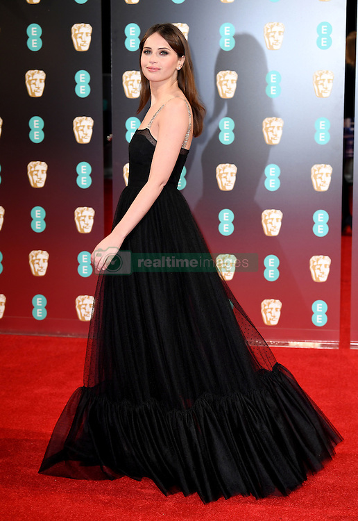Felicity Jones attending the EE British Academy Film Awards held at the Royal Albert Hall, Kensington Gore, Kensington, London. Picture date: Sunday February 12, 2017. Photo credit should read: Doug Peters/ EMPICS Entertainment