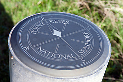 Compass marker, Point Reyes National Seashore, California, United States of America