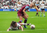 Football - 2019 / 2020 FA Women's Super League (WSL) - West Ham United vs. Tottenham Hotspur Women<br /> <br /> Alisha Lehmann of West ham challenges Siri Worm of Spurs, at The London Stadium.<br /> <br /> COLORSPORT/ANDREW COWIE