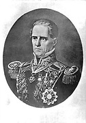 Antonio López de Santa Anna (1794-1876) Mexican soldier and political leader.  In 1822 he declared his loyalty to Augustin de Iturbide and the Republican movement. President of Mexico seven non-consecutive times in 22 years beginning in 1833.