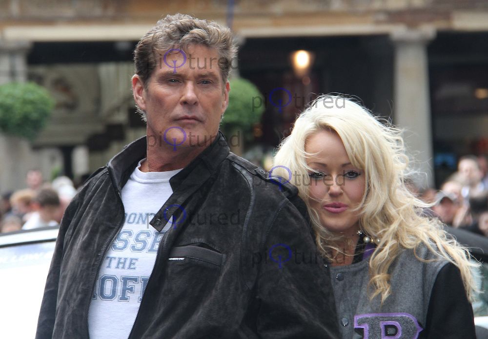 David Hasselhoff;  Hayley Roberts The Gumball 3000 Rally - Celebrities, Covent Garden, London, UK, 26 May 2011:  Contact: Rich@Piqtured.com +44(0)7941 079620 (Picture by Richard Goldschmidt)